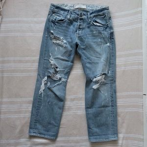 Abercrombie & Fitch Distressed Boyfriend Jeans